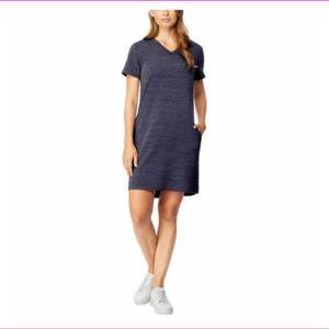 32 Degrees Cool V Neck Dress with Side Pockets